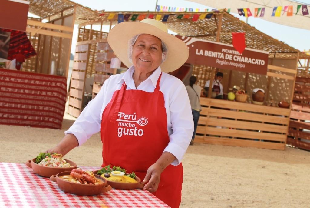 Benita en la Feria Perú Mucho Gusto.
