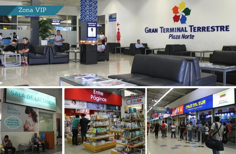 La zona de lactancia y la librería son parte de la zona común del terminal. Para la zona VIP se paga S/3.