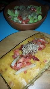 Torta de Choclo con ensalada fresca