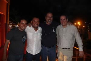 M. Cigarróstegui, John Santa Cruz, G. Toro-Lira y F. Cabachi