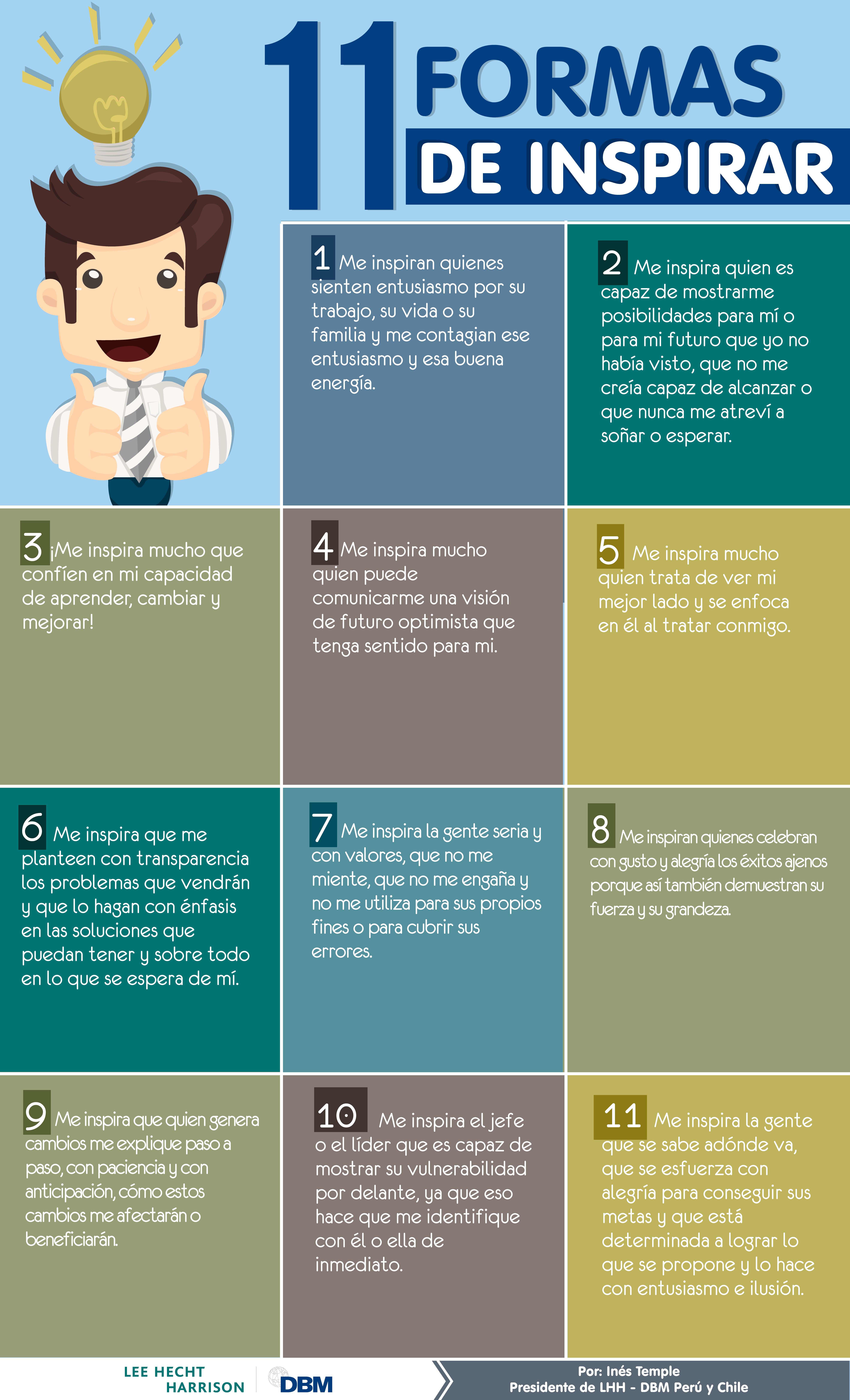 infografia 11 formas de inspirar