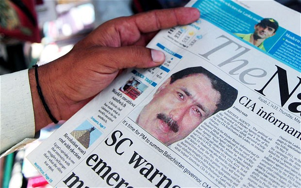 Shakeel Afridi en los periódicos. Fuente: The Telegraph