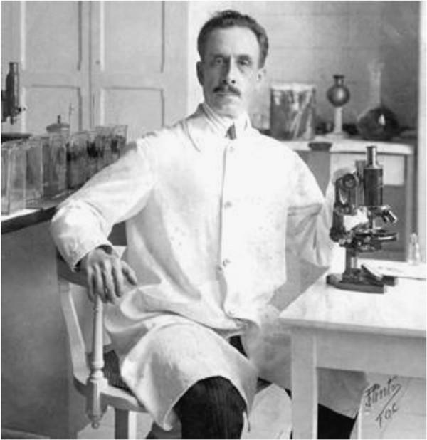 Carlos Ribeiro Justiniano das Chagas, descubridor del T. cruzi como responsable de la enfermedad que lelva su nombre.