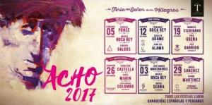 Análisis del cartel de la feria de este año en Acho (con una encuesta para que los lectores opinen)
