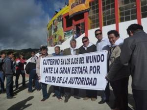 Las peñas taurinas de Cutervo protestaron en la última corrida.