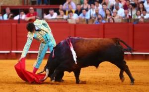 Roca Rey, ayer sin  suerte en Sevilla (con videos de sus faenas)