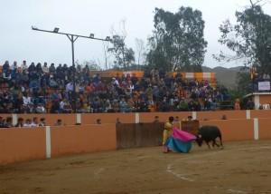 Paco Céspedes lanceando al último de la tarde, en La Esperanza.