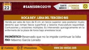 Blog Parte medico de Roca Rey