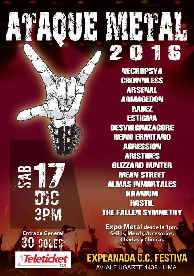 El más veterano y persistente de los festivales de metal del Perú vuelve con una nueva edición y un interesante cartel que ofrece la variedad y mayor profesionalidad de nuestra escena.