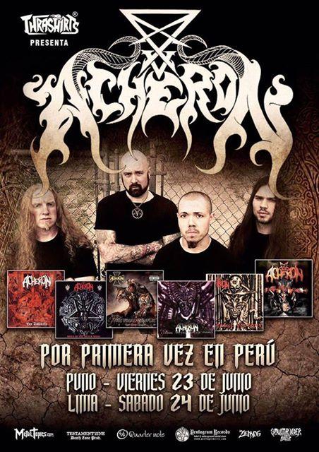 Acheron es uno de los grandes nombres del death metal y aunque carece de la celebridad de Death, Deicide u Obituary, está entre los imprescindibles del género por lo que no deberíamos perder la oportunidad de presenciar dicho acto.