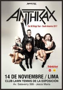 El Retorno de Anthrax al Perú: la persistente euforia del tiempo