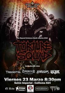 Torture Squad, death/thrash desde Brasil, nuevamente en Lima 23-03-2018