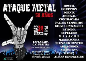 30 años del Ataque Metal - La gran cita del metal peruano