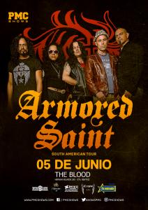 Concierto de Armored Saint en Lima - 5 de junio