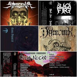 Revisando el nuevo auge de los tapes: Strogena – Dämonik – Evil Priest – Black Fire – Cuero Negro Vol.VII