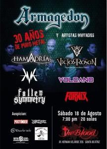 Armagedon cumple 30 años de heavy metal al lado de importantes bandas actuales de la escena local