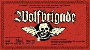 Concierto de Wolfbrigade, Dios Hastío, Sistemas de Aniquilación y Destruye Destruye