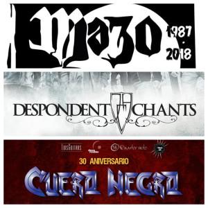 Fin de semana de metal nacional - Mazo - Despondent Chants - Aniversario Cuero Negro - viernes 23 y sábado 24