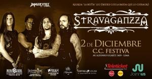 Stravaganzza, interesante banda de metal sinfónico de España, en el Festiva 2 de diciembre