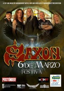 Las ruedas de acero se mueven sobre Lima: Saxon en concierto el 6 de marzo de 2019