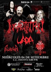 Incantation - La más retorcida banda del death metal y uno de los gigantes del sonido extremo en Lima de nuevo.