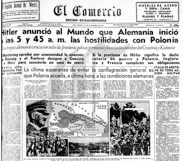Peruanos en la Segunda Guerra Mundial la Segunda Guerra Mundial