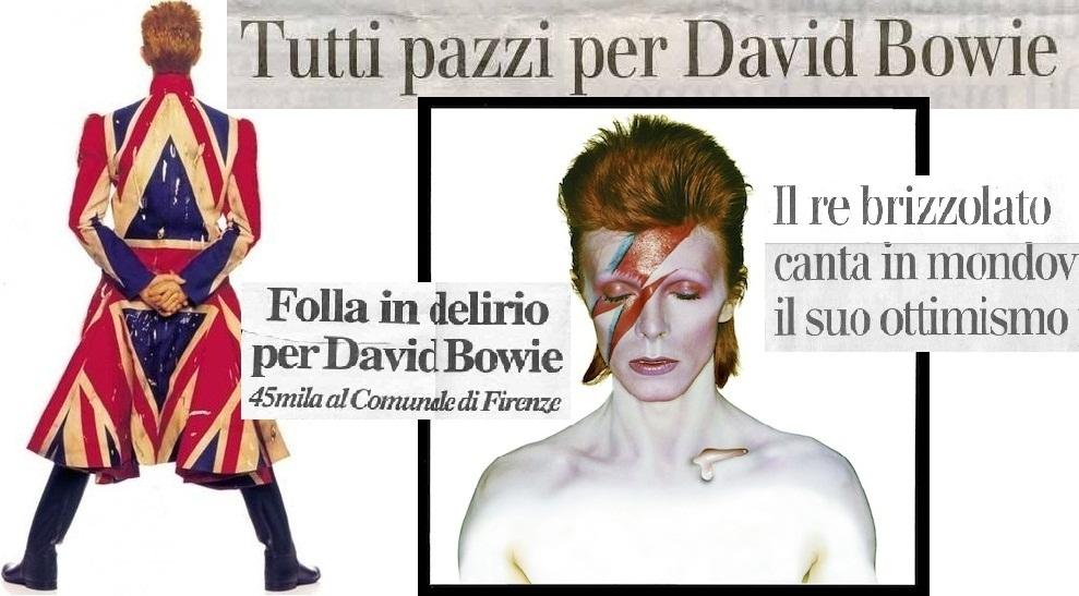 Difícil de creer. David Bowie ha muerto. Difícil de creer porque formaba parte de ese grupo de gente que siempre veremos jóvenes, así pasen los años. Un artista, un genio, un ícono. Por ello, este blog de música italiana desea dedicarle unas líneas (e imágenes) en su memoria.