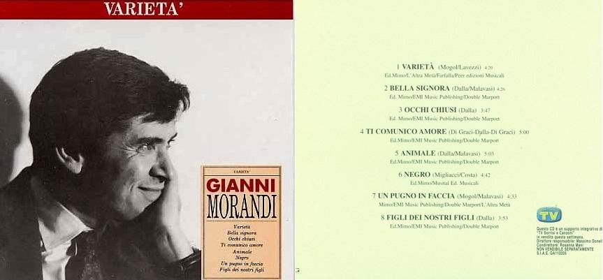 """Varietà"", disco de 1989 que incluyó ""Bella signora""."