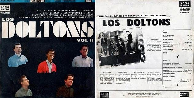 """""""Los Doltons Vol. 2"""", disco de 1967 que incluyó """"Tema: El amor""""."""