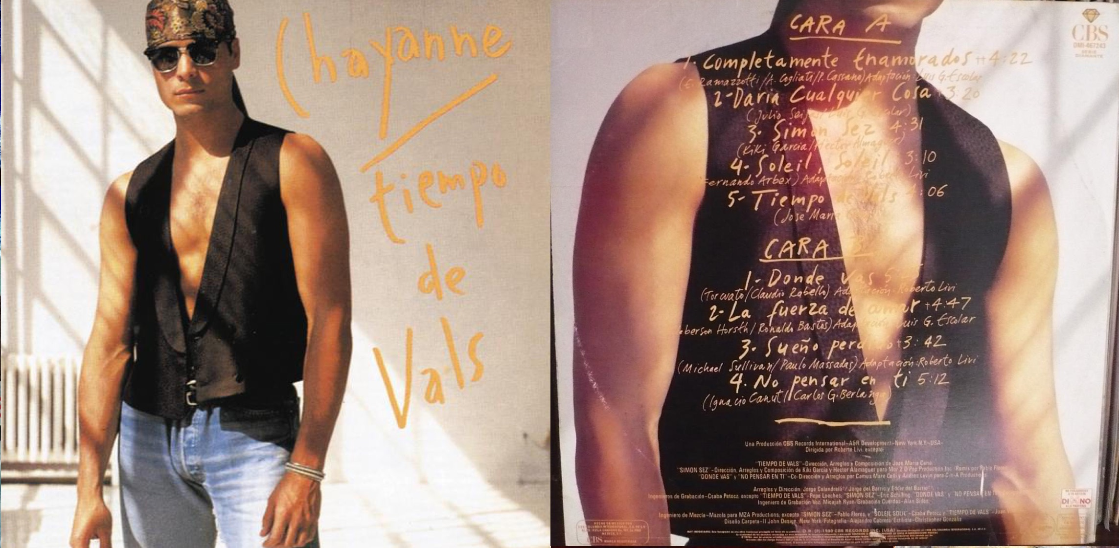 """""""Tiempo de vals"""", álbum de 1990 que incluyó """"Completamente enamorados""""."""