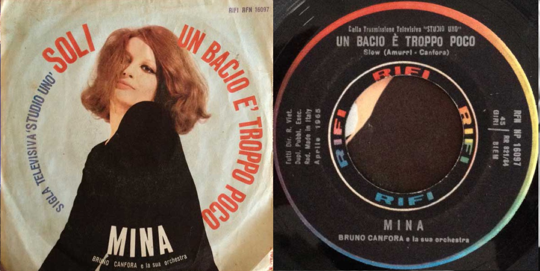 """Un bacio è troppo poco"", disco sencillo de 1965."