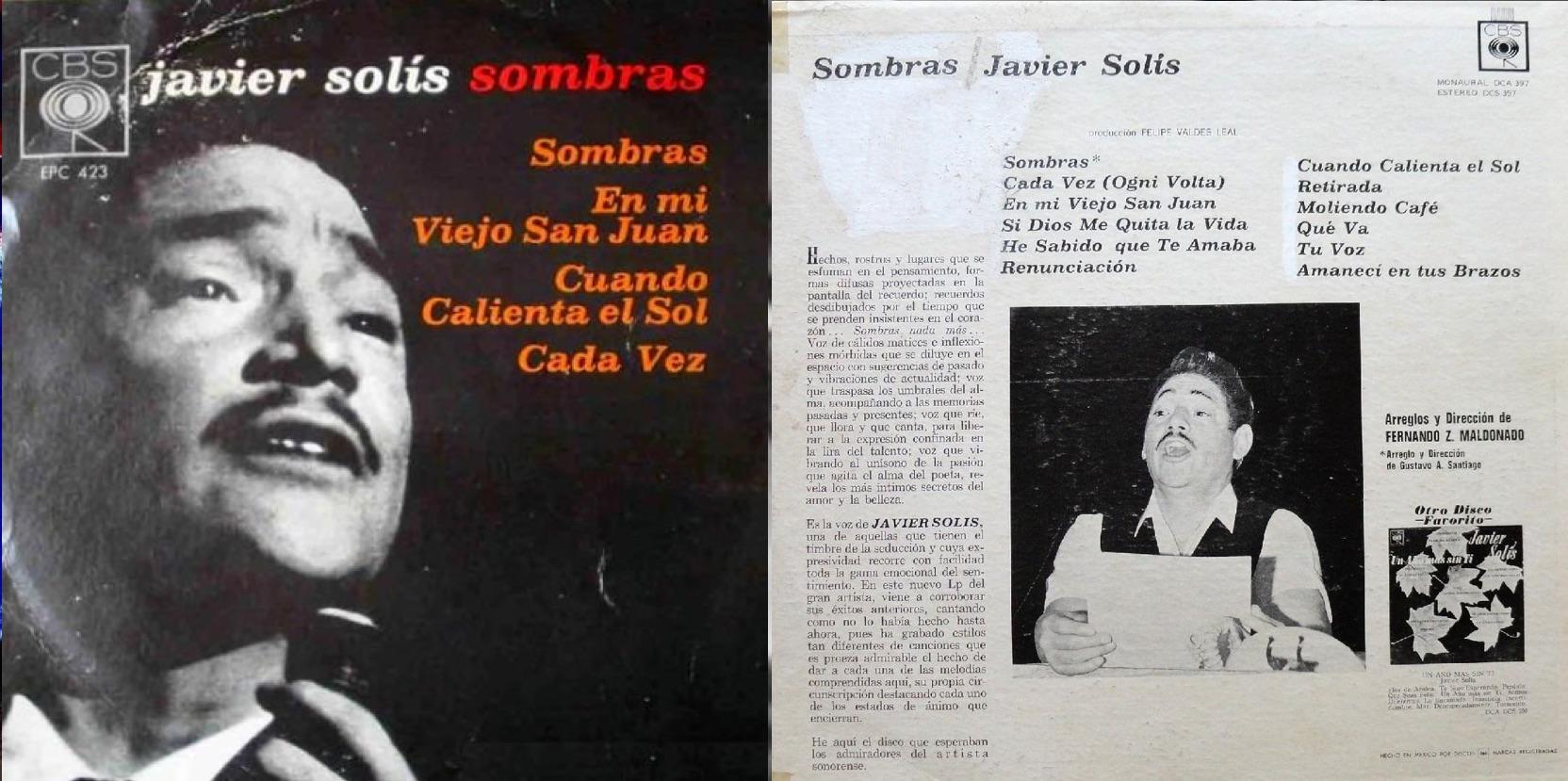 """""""Sombras"""", álbum de 1965 que incluyó """"He sabido que te amaba""""."""
