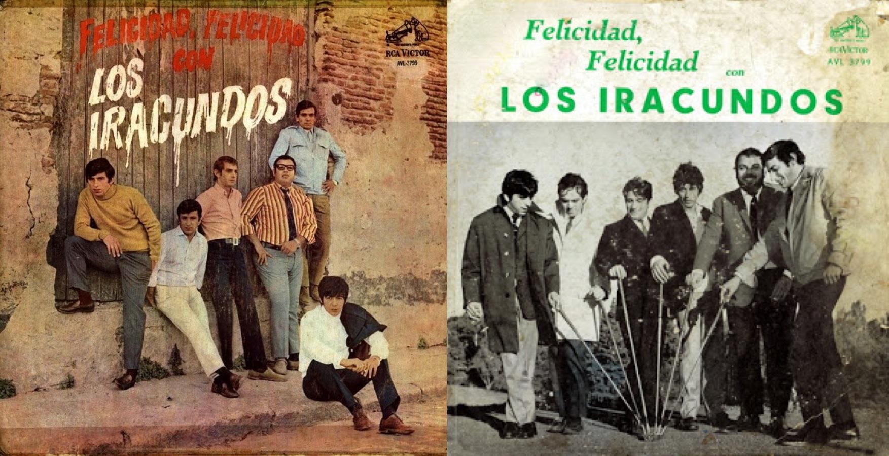 """Dos portadas del disco """"Felicidad, felicidad"""", lanzado en 1968."""