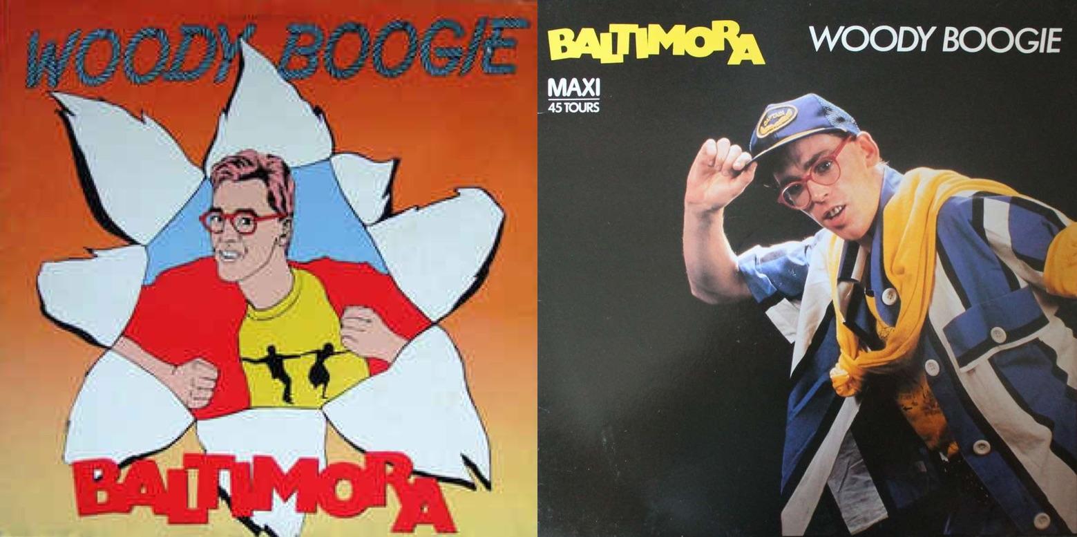 """Discos sencillos de """"Woody Boogie"""" (1985)."""
