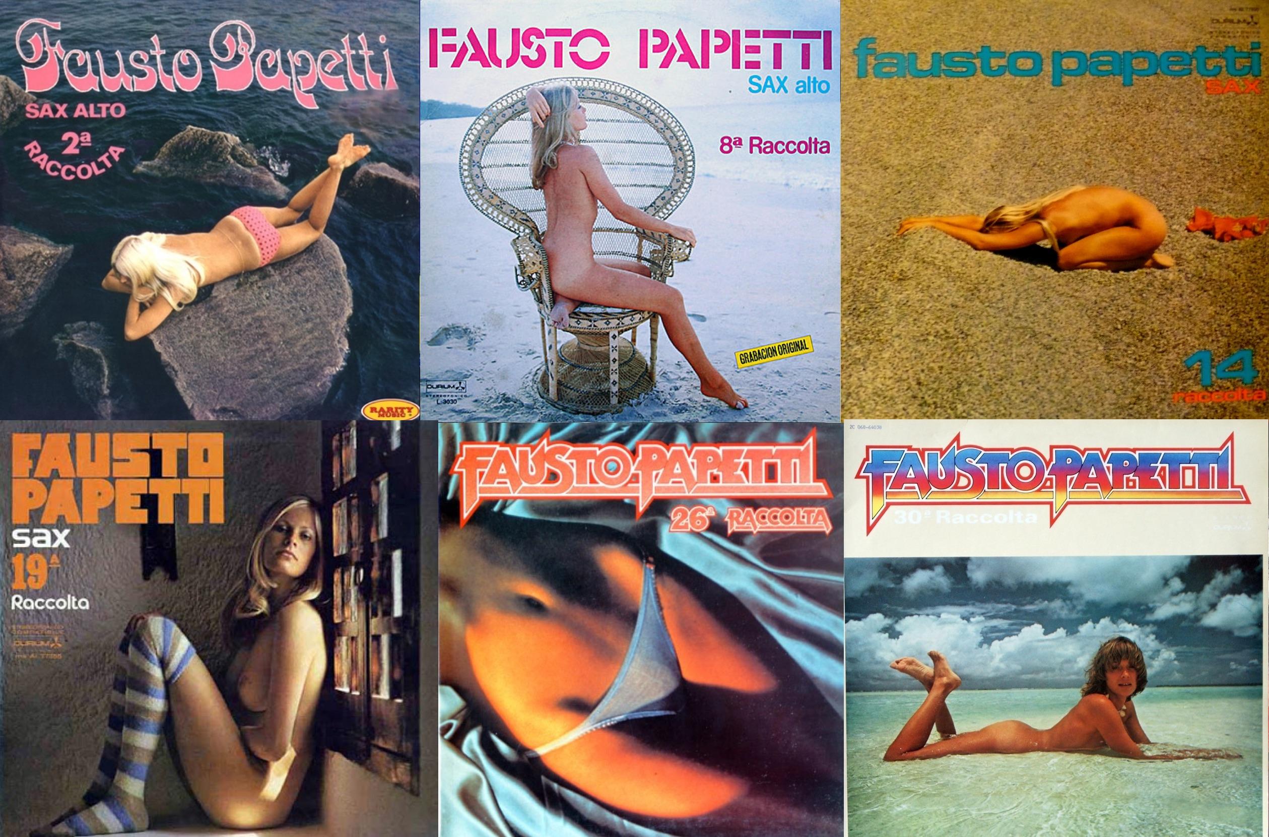 Algunas de las portadas del italiano Fausto Papetti.