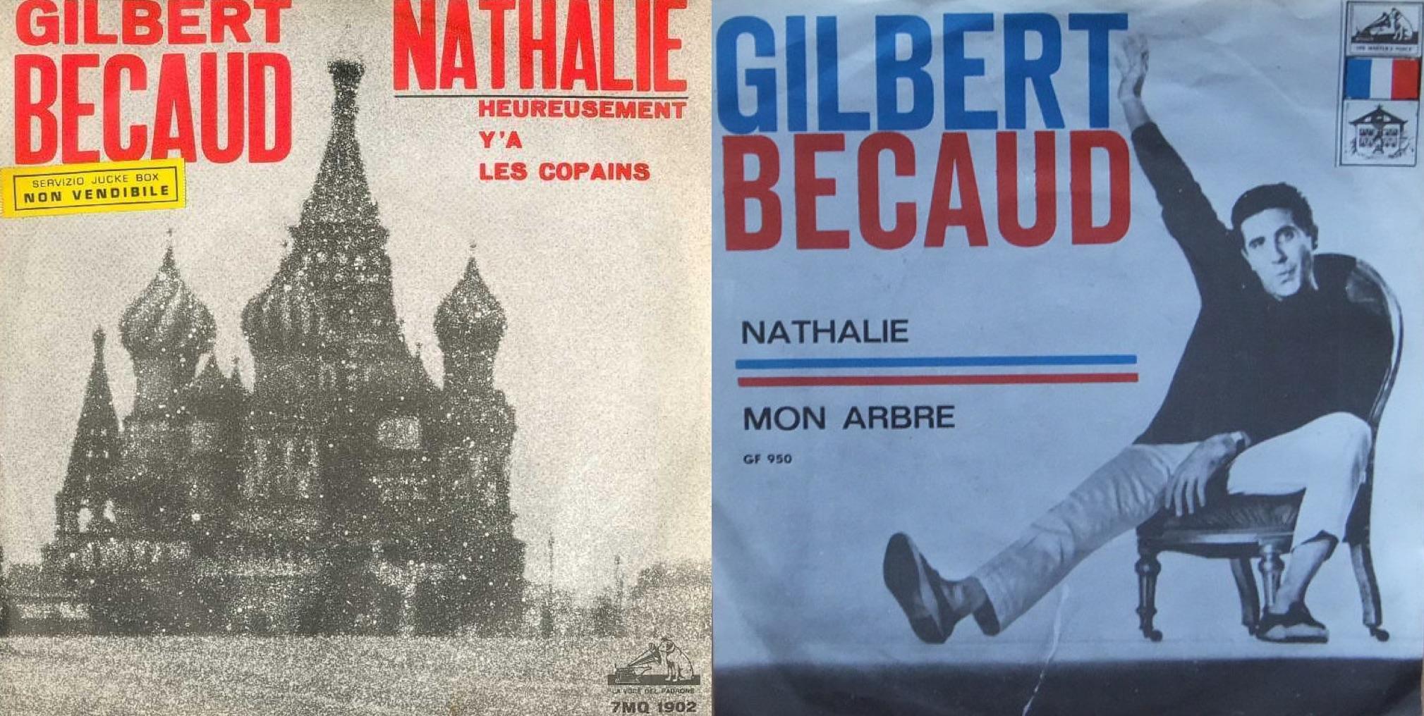 "Discos de ""Nathalie"", lanzados en 1964."
