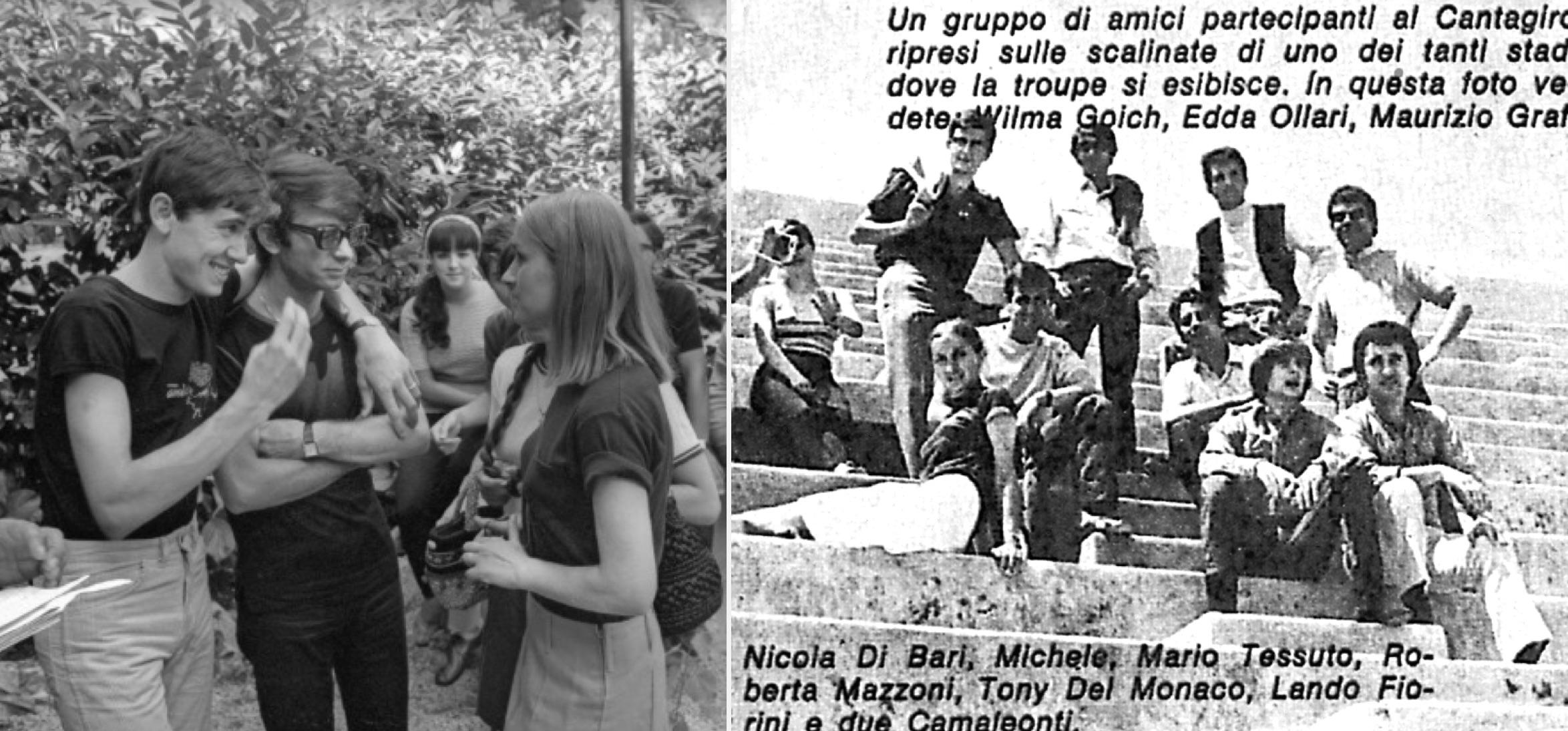 """(Foto de la izq.: Archivio RCS-Fusar / Foto de la der.: Revista """"Ciao Amici"""")."""