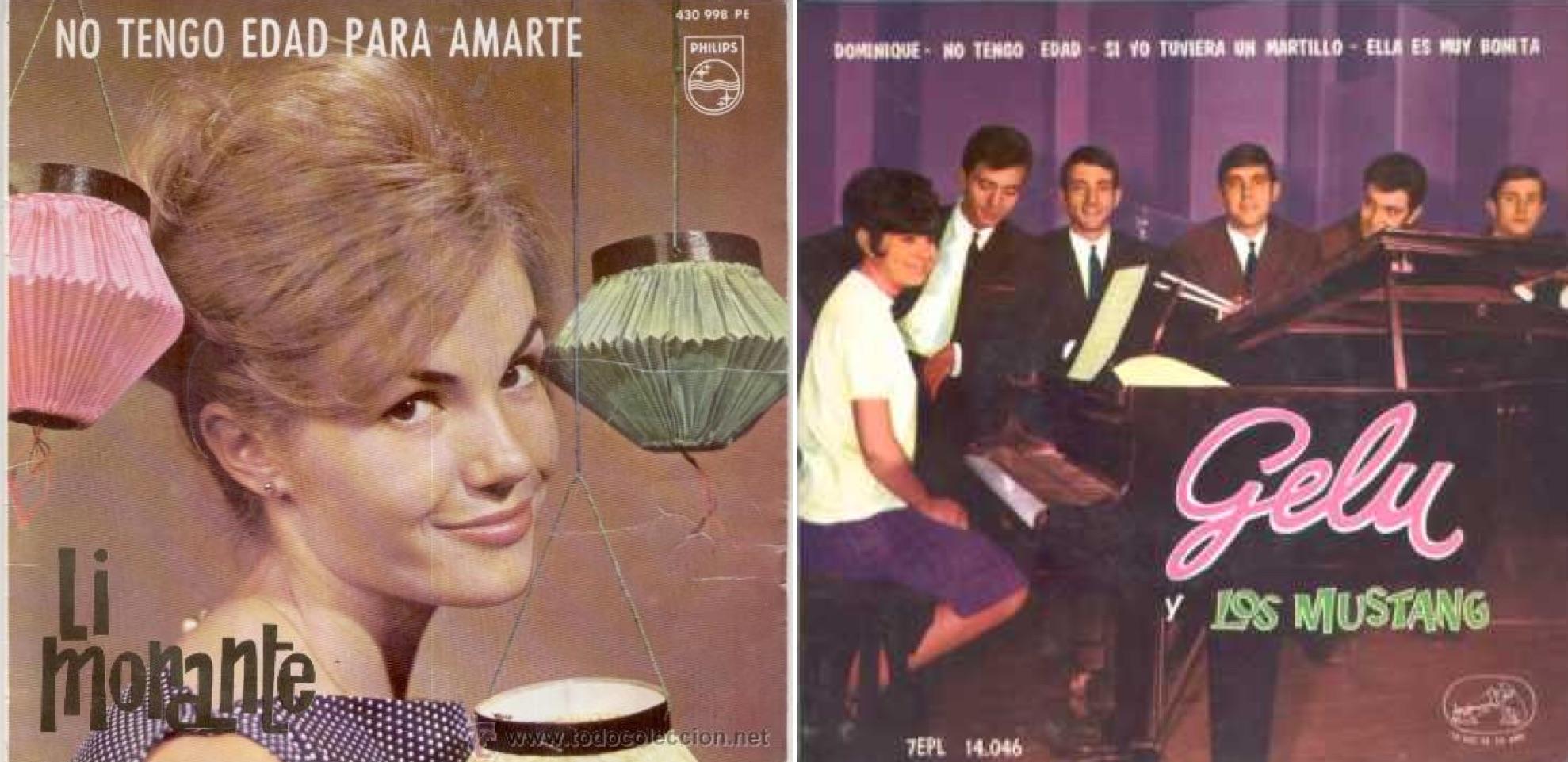 """Discos de Li Morante y Gelu, en los que aparece """"No tengo edad""""."""