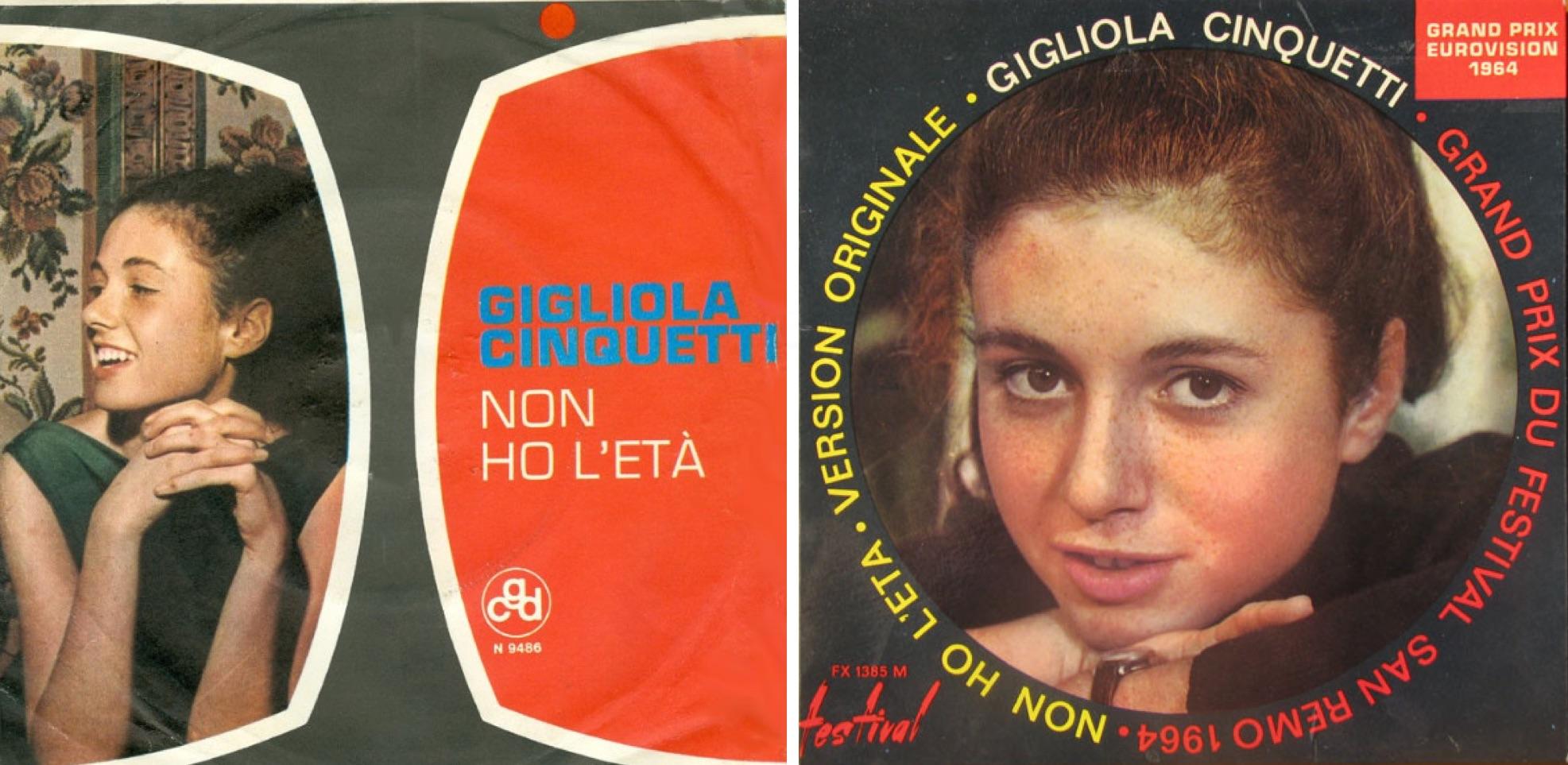 "Dos discos sencillos de ""Non ho l'età""."
