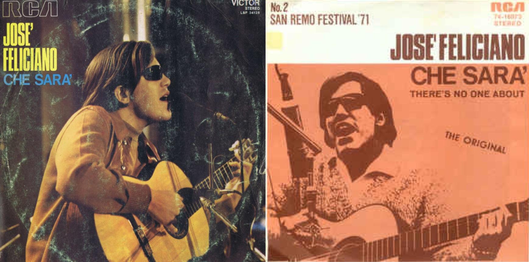 """Discos en italiano de """"Che sarà"""" (1971)."""