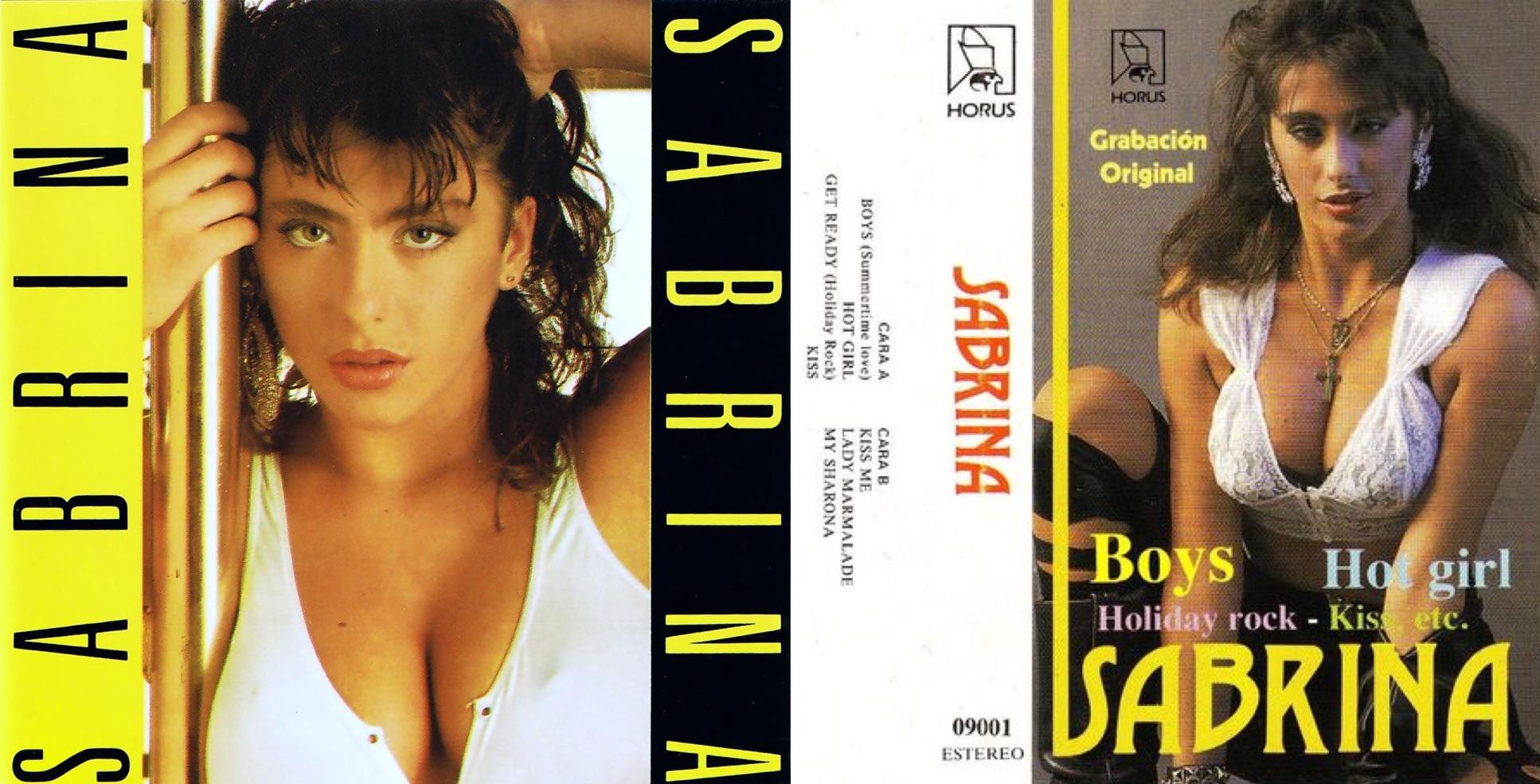 Disco y casete de Sabrina, lanzados en 1987.