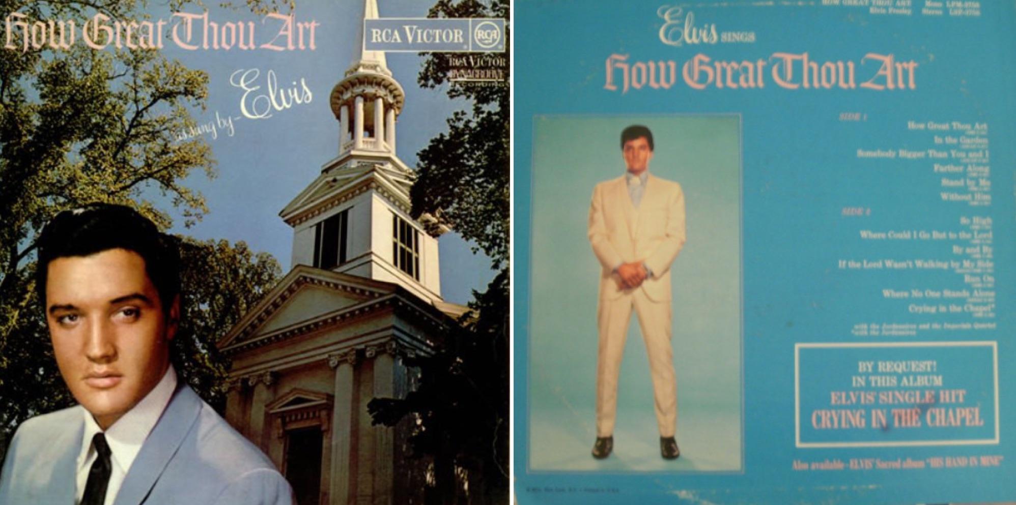 Albúm de Elvis con la fachada de la Primera Iglesia de Cristo.