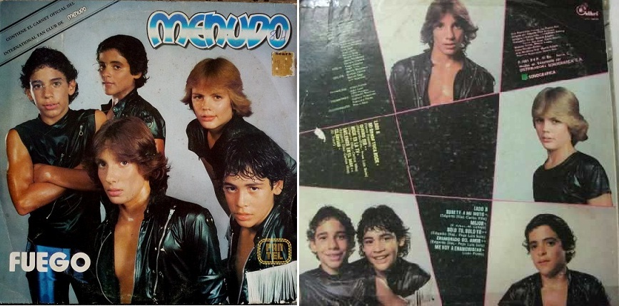 """""""Fuego"""", álbum que se lanzó en Perú en 1981."""