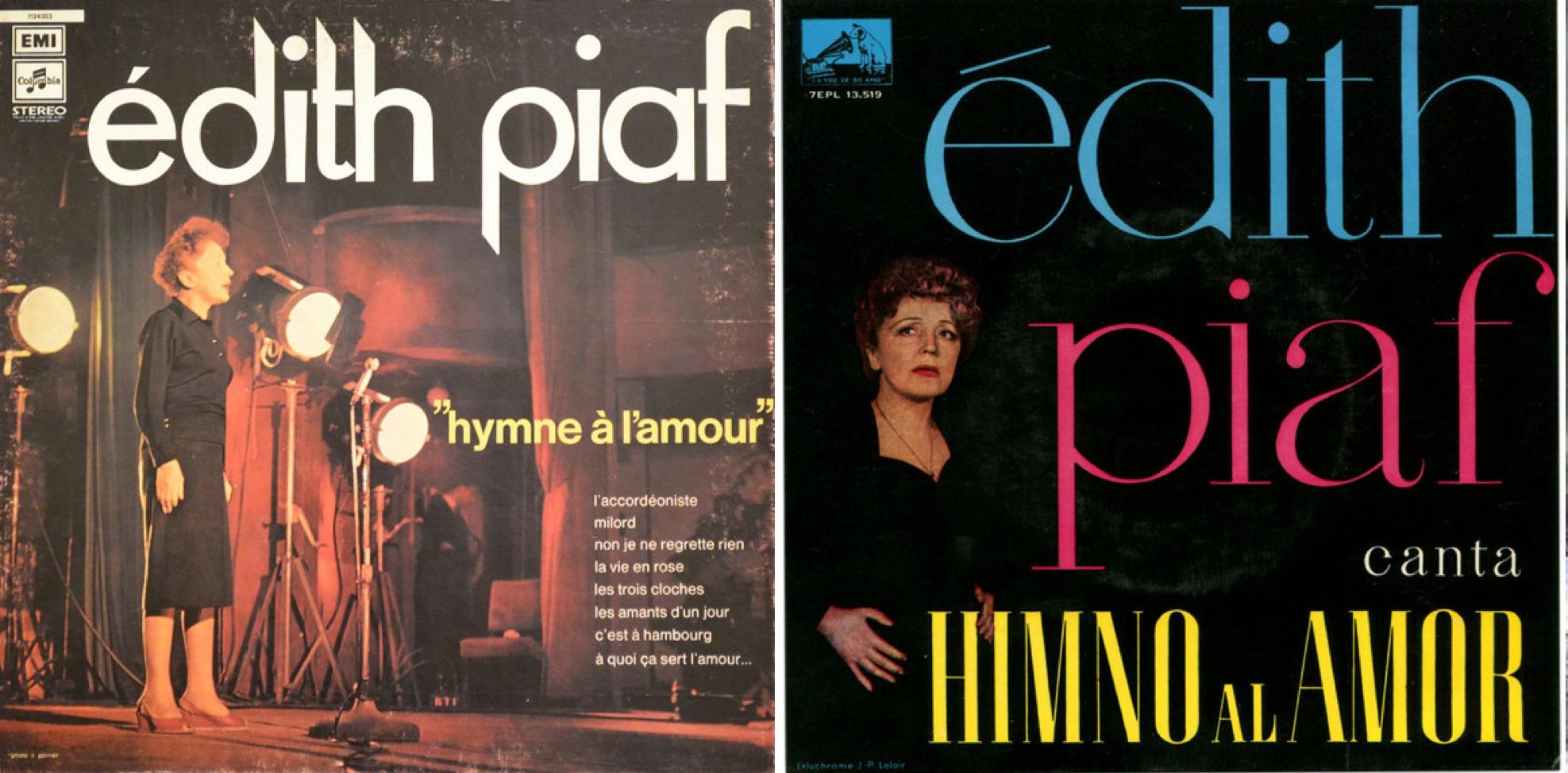 Izq.: Disco LP editado en Francia en 1973. Der.: Disco EP lanzado en España en 1960.