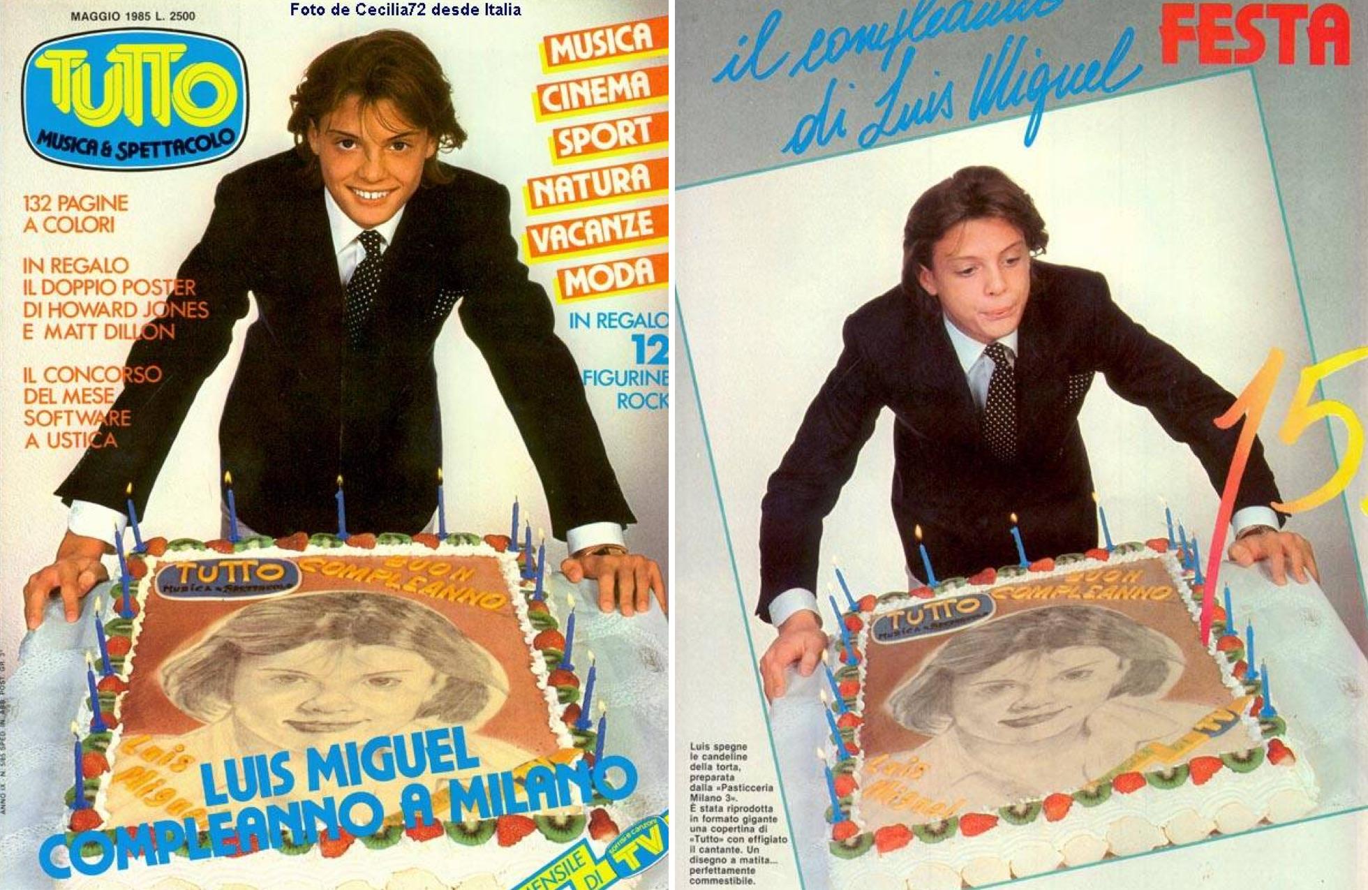 Luis Miguel celebra su cumpleaños número 15. (Revista Tutto Musica & Spettacolo / LuisMiguelSite.com)