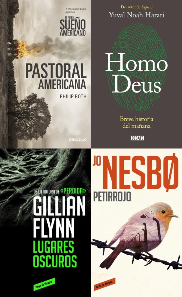 """¿Deseas divertirte leyendo este fin de semana? Te recomendamos cuatro opciones de distintos géneros: """"Lugares oscuros"""", """"Petirrojo"""", """"Homo Deus"""" y """"Pastoral Americana""""."""