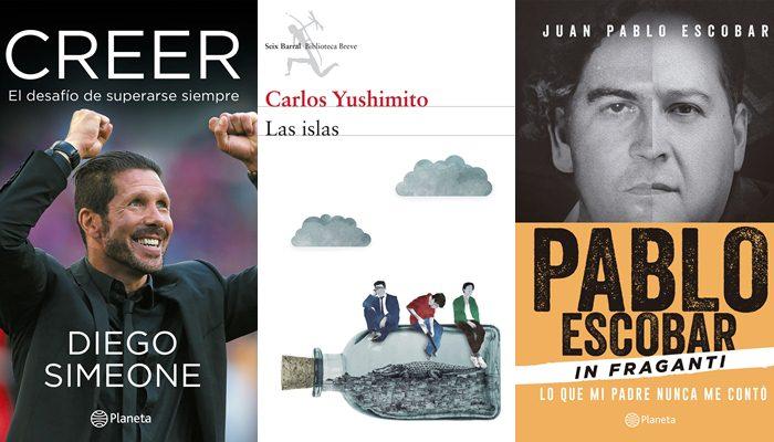 Comentamos brevemente tres libros que puedes encontrar en las librerías peruanas. Uno de Diego Simeone, otro de Carlos Yushimito y otro de Juan Pablo Escobar
