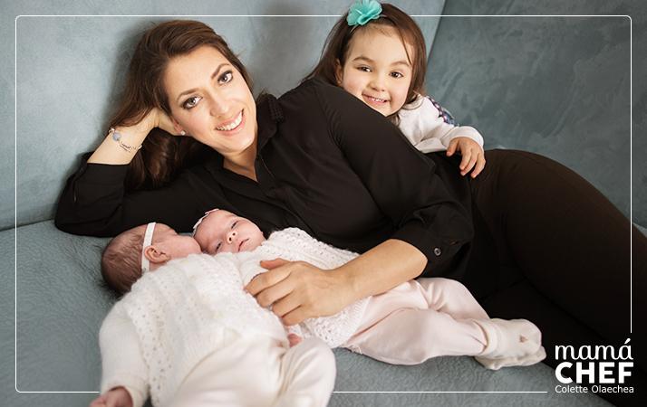 Mama Chef Colette Olaechea y sus 3 hijas