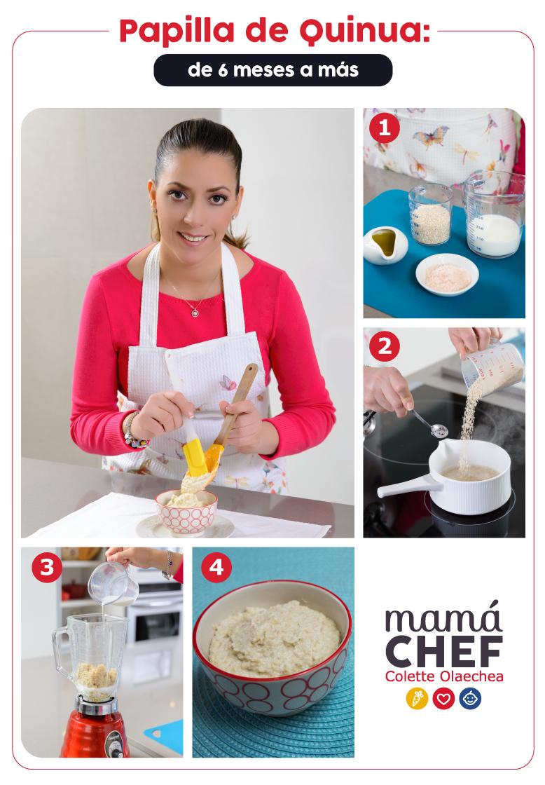 Receta Mamá Chef Colette Olaechea Papilla de Quinua