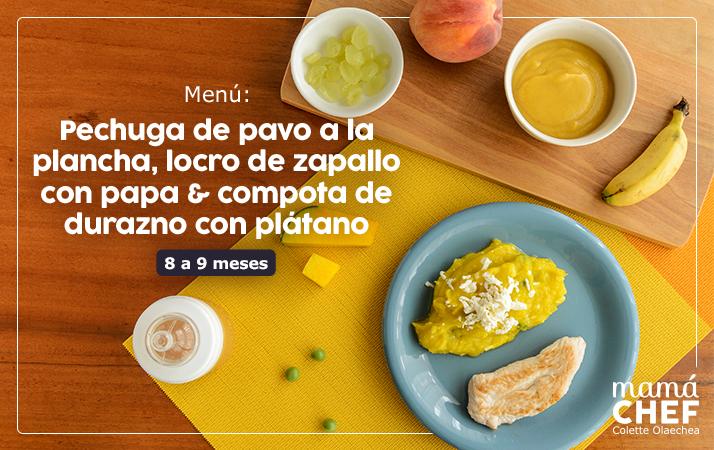 Receta para bebes de 8 a 9 meses Mamá Chef Colette Olaechea Educación Alimentaria Infantil